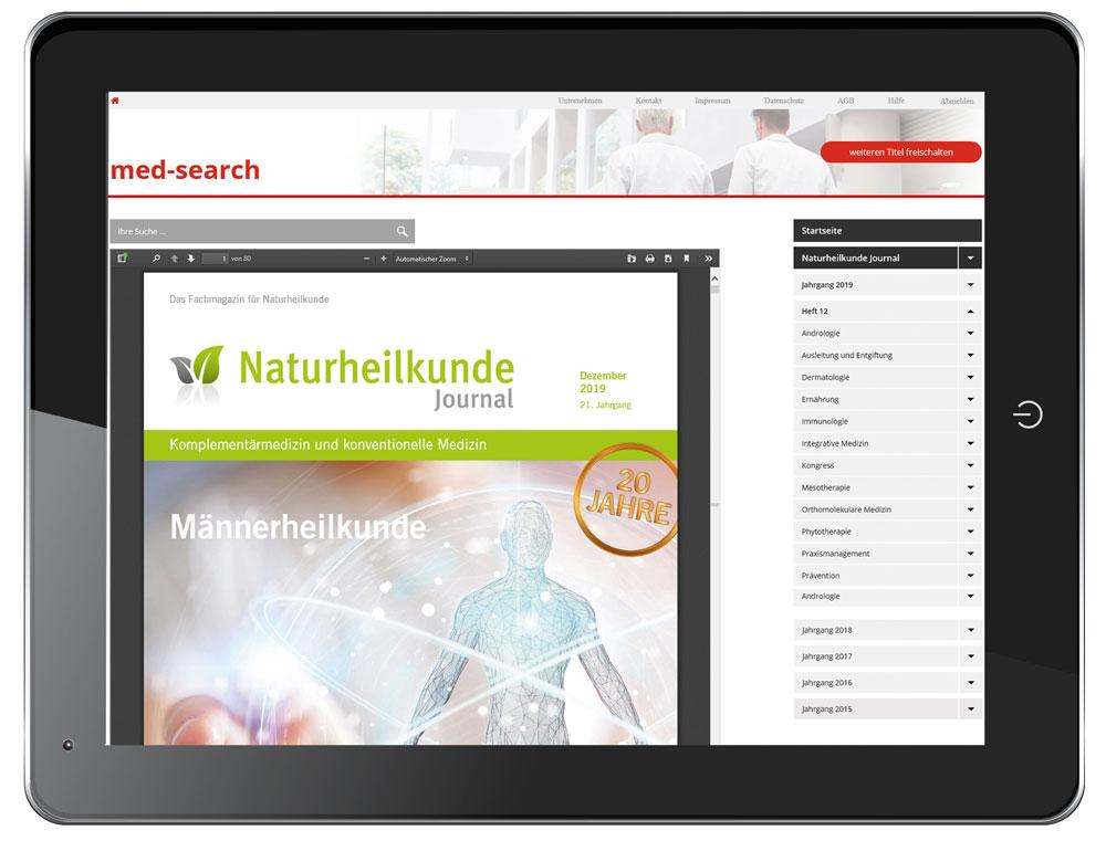 Naturheilkunde Journal Archiv auf med-search