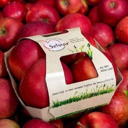 der neue Apfel Selstar® der Hochschule Osnabrück hat im Vergleich zu anderen Äpfeln einen zehnmal so hohen Selen-Gehalt