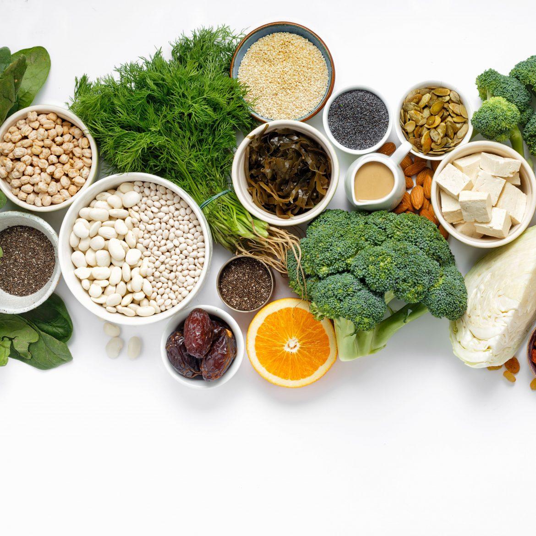 vegane Lebensmittel mit viel Calcium